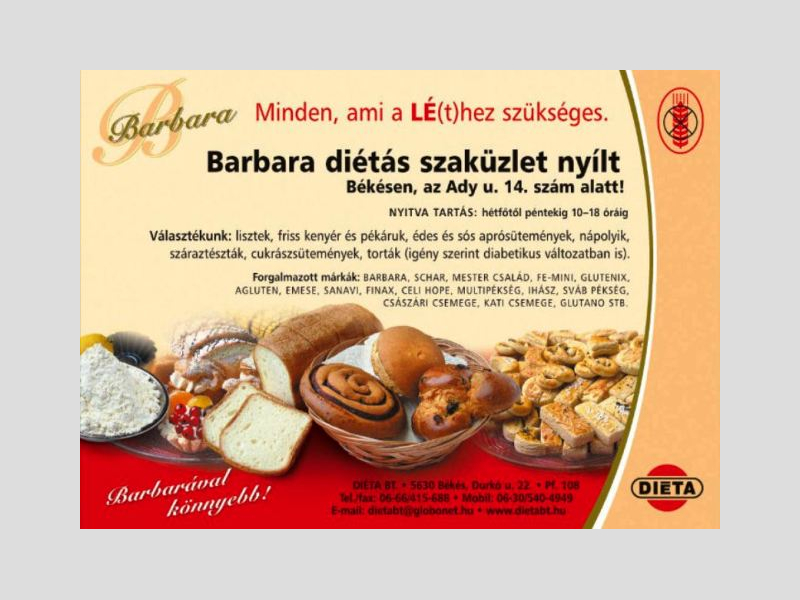 Barbara-Diéta Bt. | Lisztérzékeny, gluténmentes webáruház