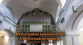 Református Istentisztelet a Reformáció napján.