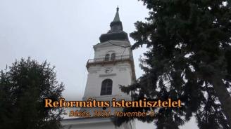 Református istentisztelet - 2020.11.08.