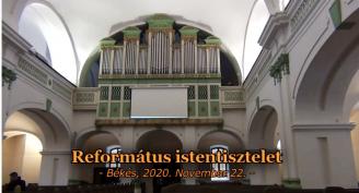 Református istentisztelet 2020.11.22